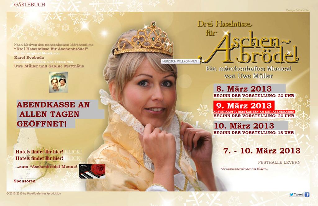 Aschenbrödel-Musical-Premiere in Levern