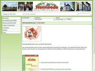 Wohnbauförderung in der Gemeinde Stemwede