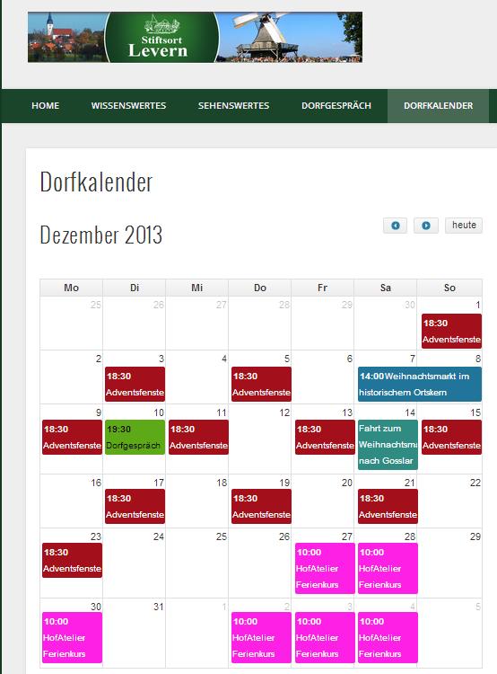 Dorfkalender überarbeitet