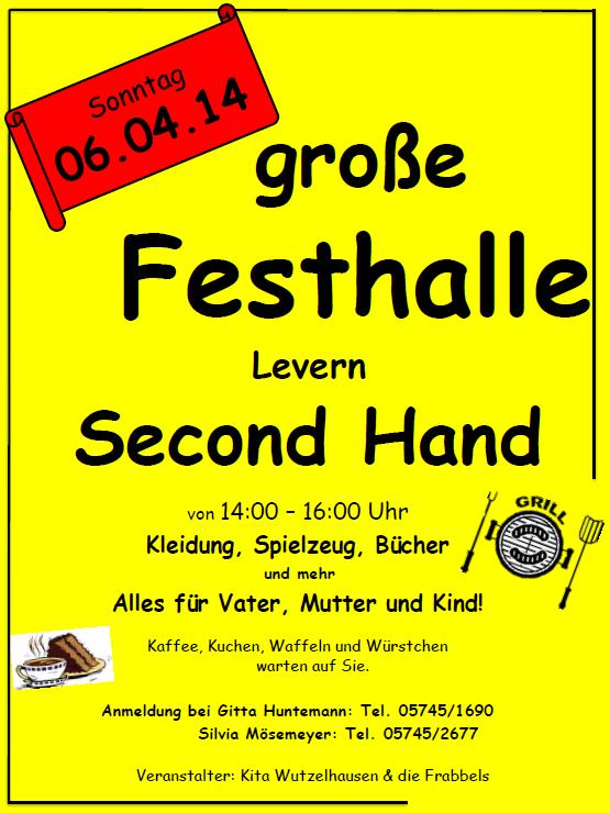 jetzt Sonntag: Second Hand Basar in der großen Festhalle