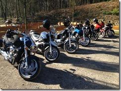 Motorradfreunde machen erste Ausfahrt