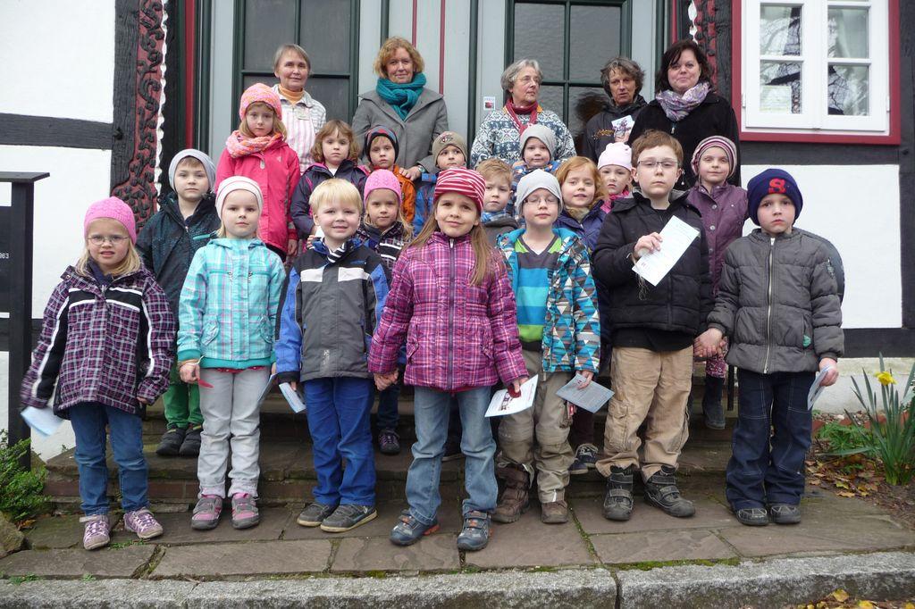 Angehende Grundschulkinder besuchten Heimathaus Levern