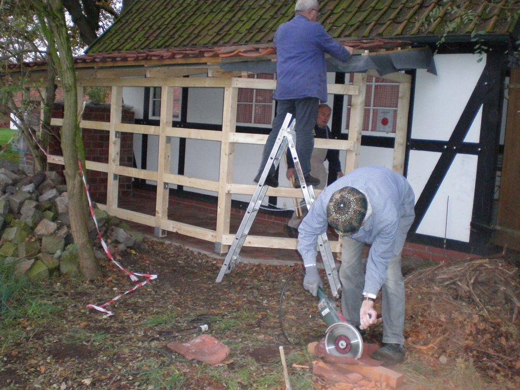 Arbeiten an der Mühle gehen voran