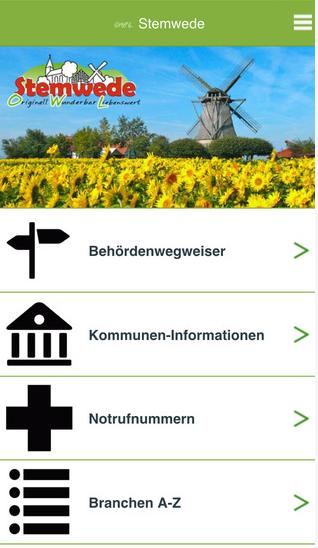 Stemwede für unterwegs – Stemwede-App