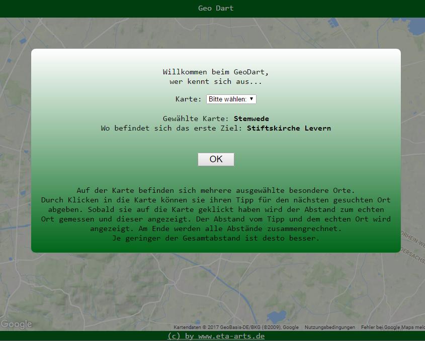 Geo Dart auf Levern.de – Wer kennt sich aus