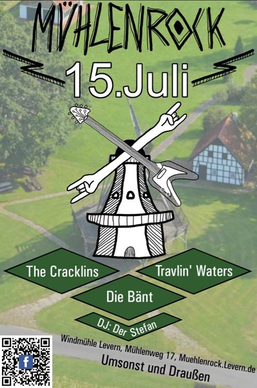 Mühlenrock – 3 Rockbands geben Konzert an der Leverner Mühle