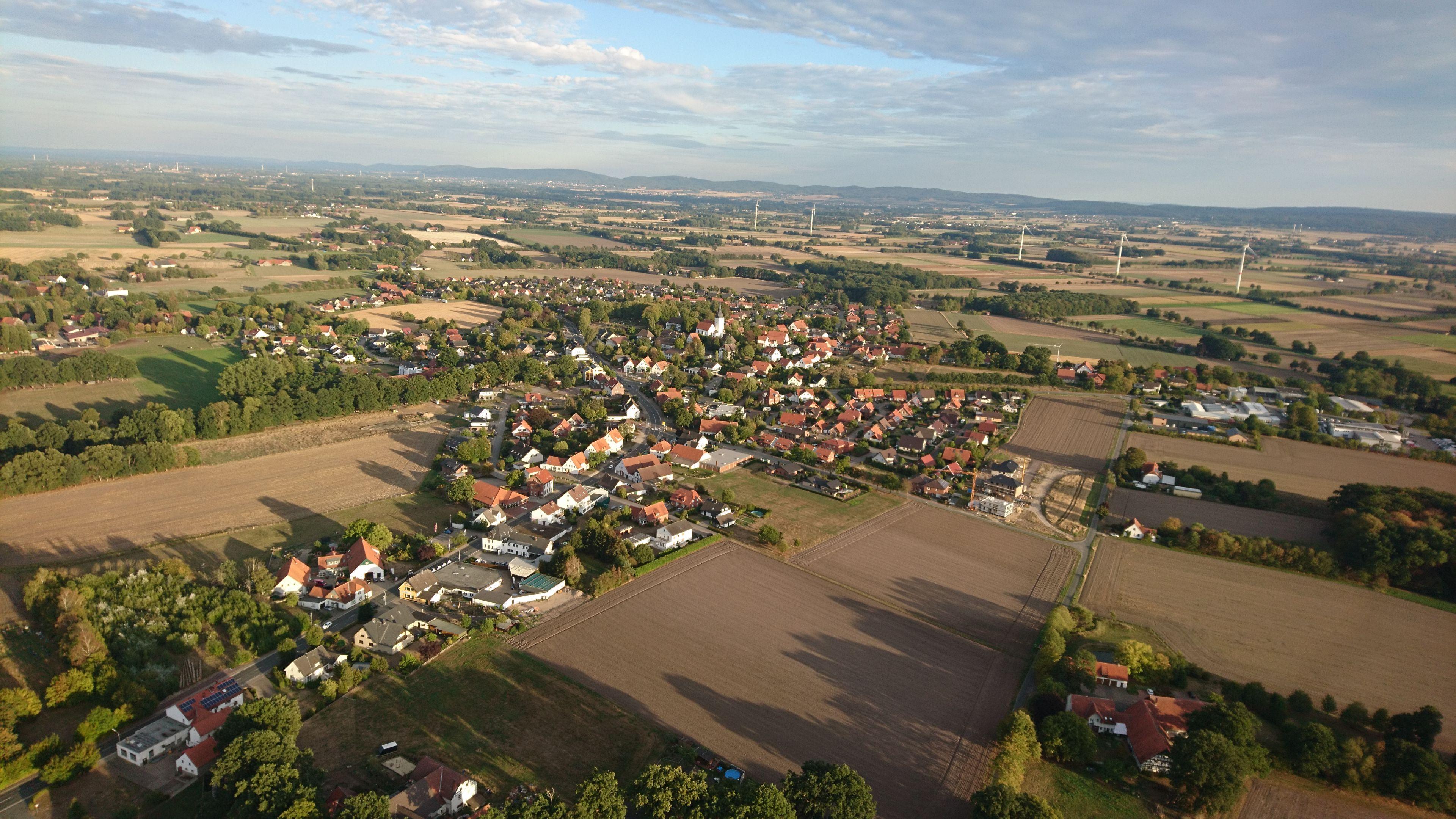 """Ballonfahrt über Stemwede – """"Stemwede von Oben"""""""