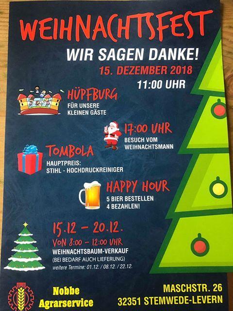 Weihnachtsfest bei Nobbe Agrarservice