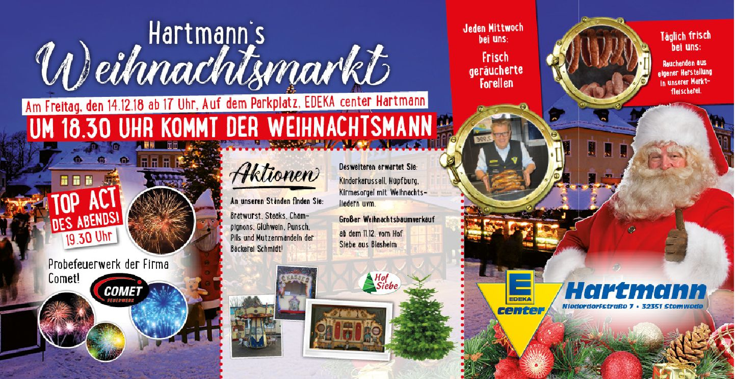 Hartmanns Weihnachtsmarkt am 14.12.2018