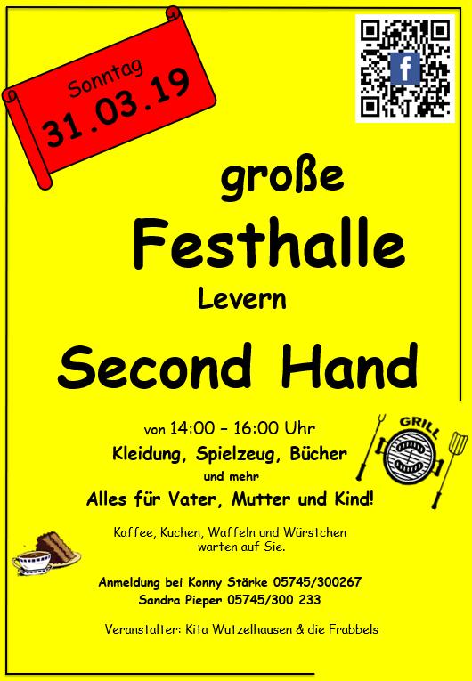 Second-Hand-Basar am 31.03.19
